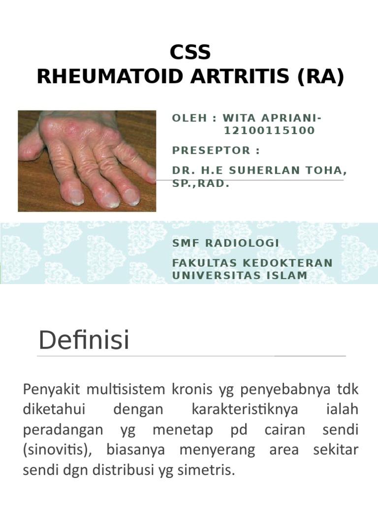 akut rheumatoid arthritis esettanulmánya térd dysplasztikus artrózisa