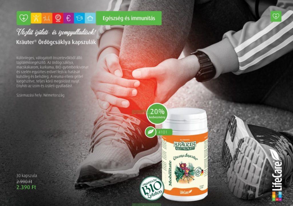Kräuter® Ördögcsáklya® gél, BIO gyógynövényekkel - ml - Termék kód , Life Care